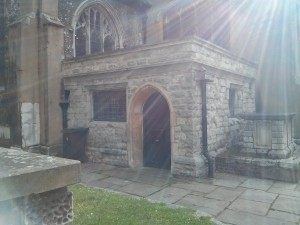 Entry via the vicar's vestry